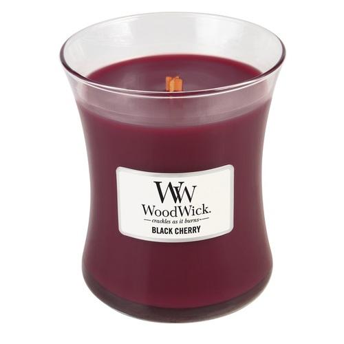 WOODWICK|美國精緻居家香氛 9.7oz香氛杯蠟經典款(黑櫻桃)