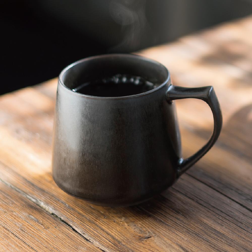 Cores|KIKI美濃燒馬克杯-瓷製可微波 (黑)