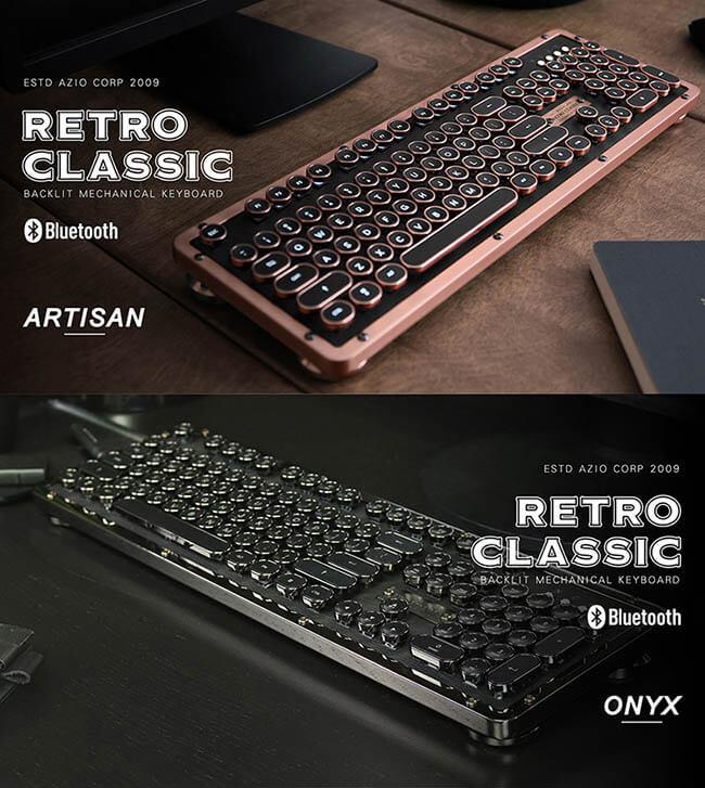AZIO|RETRO CLASSIC POSH BT 牛皮復古打字機鍵盤(中英鍵帽)