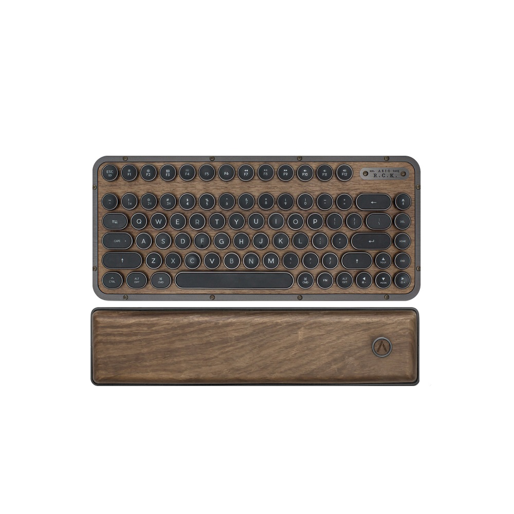 AZIO RETRO R.C.K. ELWOOD 核桃木短版藍牙復古鍵盤(中英鍵帽)