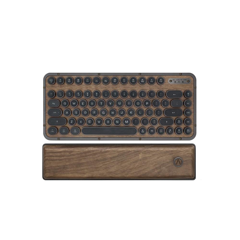 AZIO|RETRO R.C.K. ELWOOD 核桃木短版藍牙復古鍵盤(中英鍵帽)