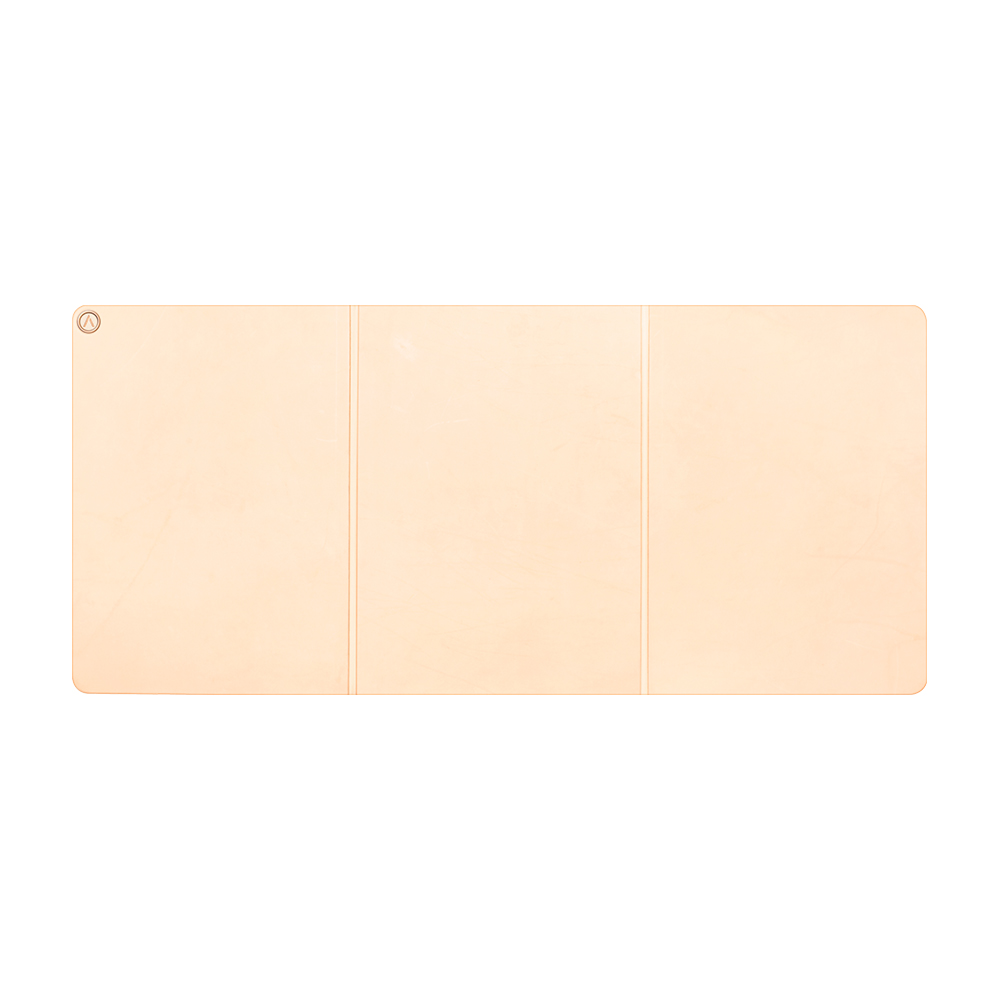 AZIO|R.C.M.P. 義大利手工牛皮桌墊(摺疊式)裸膚色