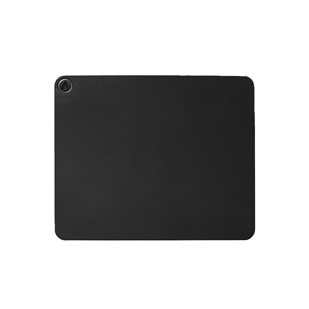 AZIO| R.C.M.P. 義大利手工牛皮滑鼠墊(方形)黑色