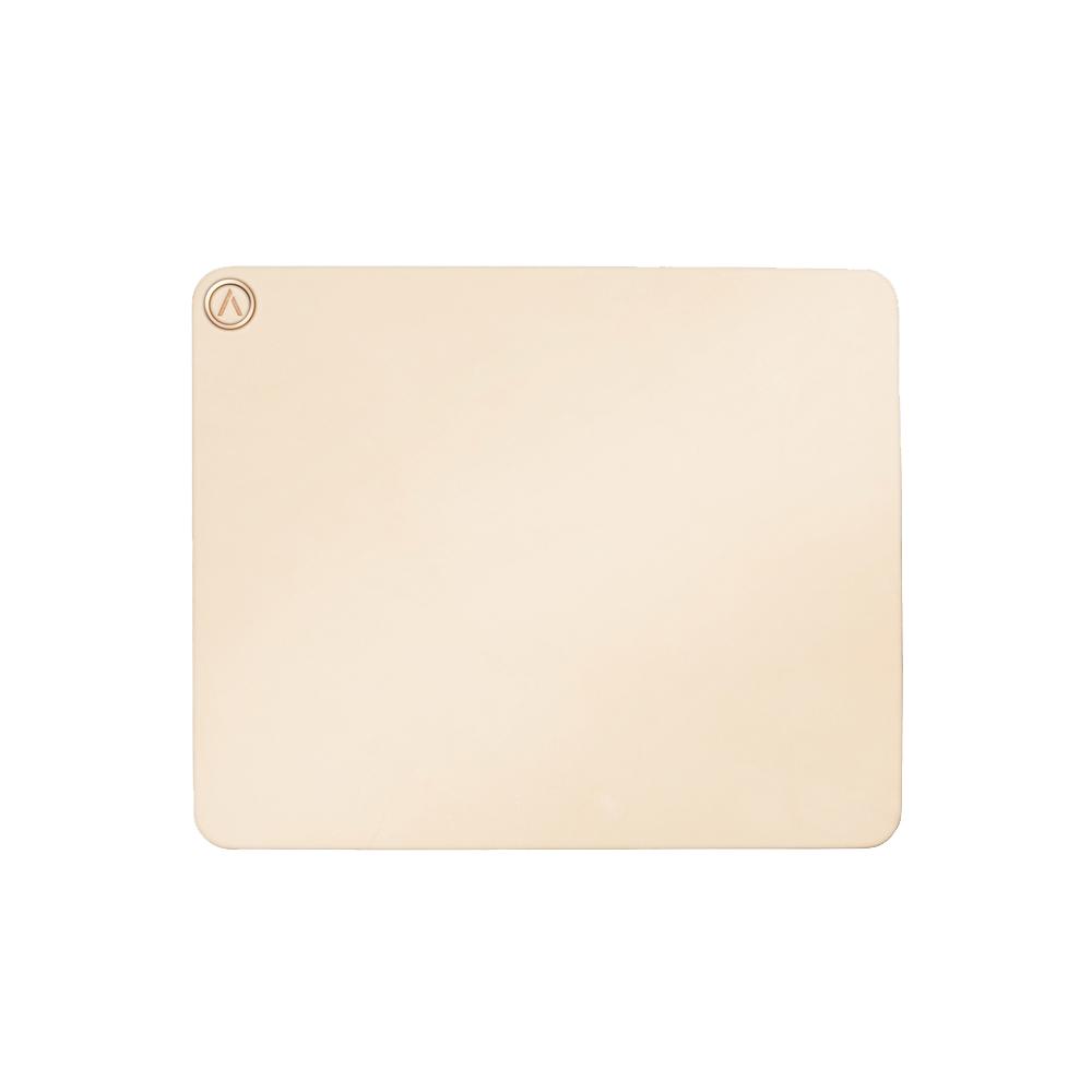AZIO| R.C.M.P. 義大利手工牛皮滑鼠墊(方形)裸膚色