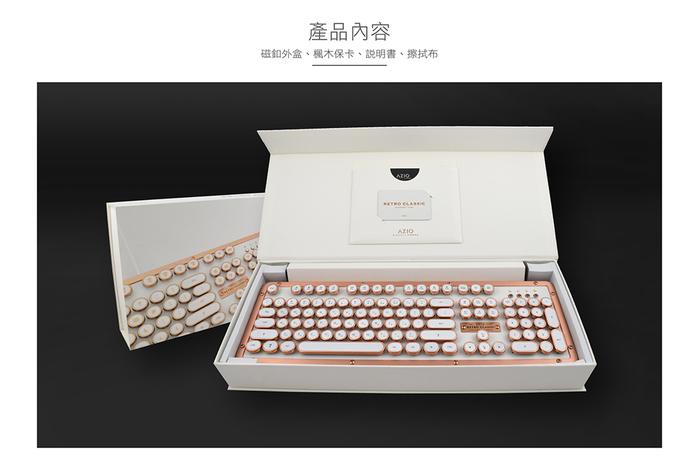 AZIO|RETRO CLASSIC MAPLE BT 楓木復古打字機鍵盤(中英鍵帽)
