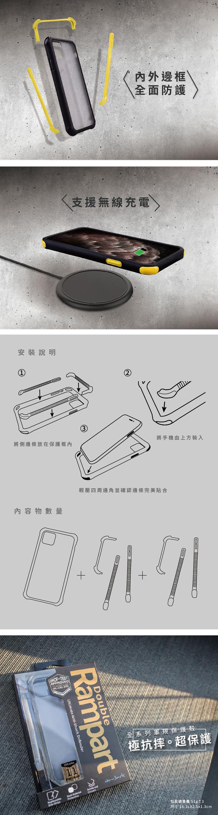 NavJack|iPhone 11 Pro (5.8吋) 雙重堡壘抗摔保護殼