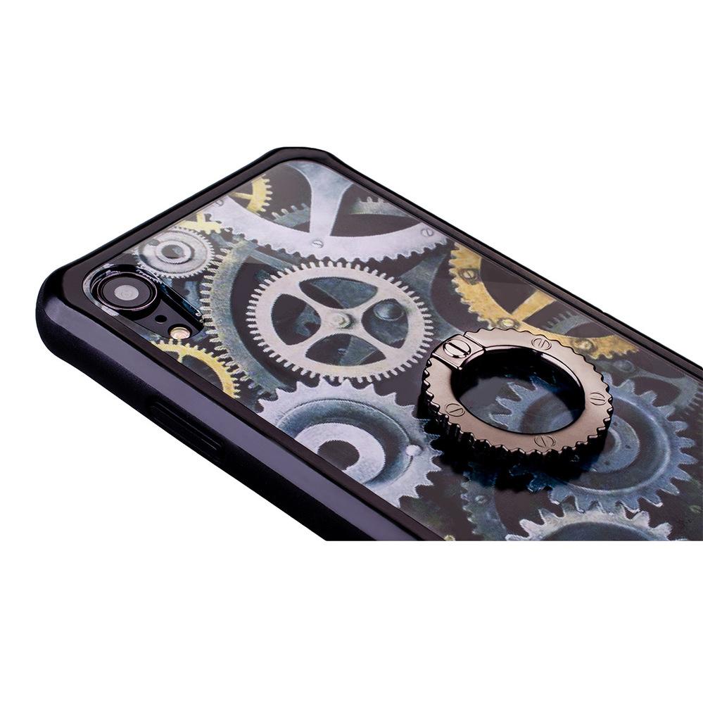 NavJack|iPhone XR (6.1吋) 齒輪站立指環保護殼