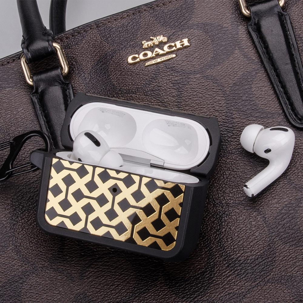 NavJack|Airpods Pro 藍芽耳機防摔保護盒附扣環-梵蒂金