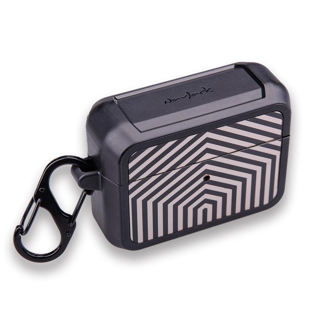 NavJack|Airpods Pro 藍芽耳機防摔保護盒附扣環-格拉夫銀
