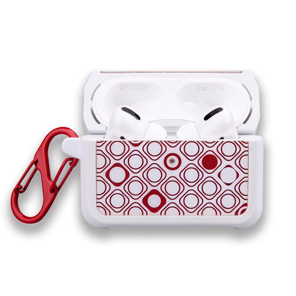 NavJack|Airpods Pro 藍芽耳機防摔保護盒附扣環-斐麗紅