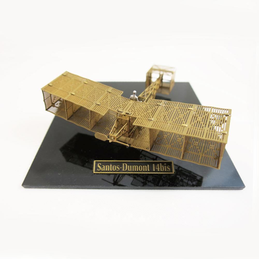 Aerobase|金屬模型組裝飛機Santos Dumont 14bit黃銅材質模型(1/160)