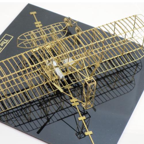 Aerobase|金屬模型組裝飛機Flyer(1903)萊特兄弟黃銅材質飛行機(1/72)