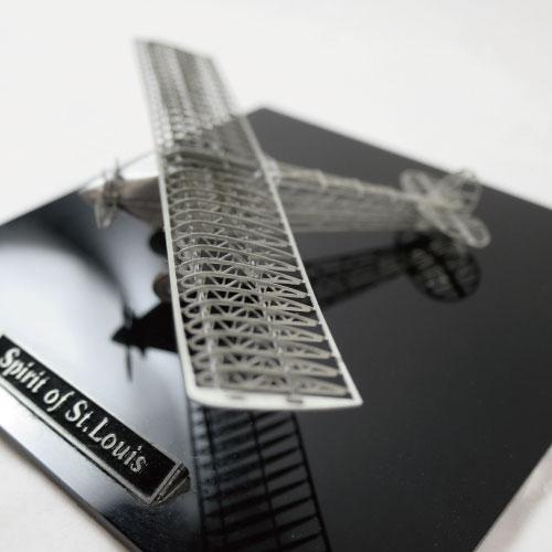 Aerobase|金屬模型組裝飛機Spirit of St. Louis鎳銀版模型(1/160)