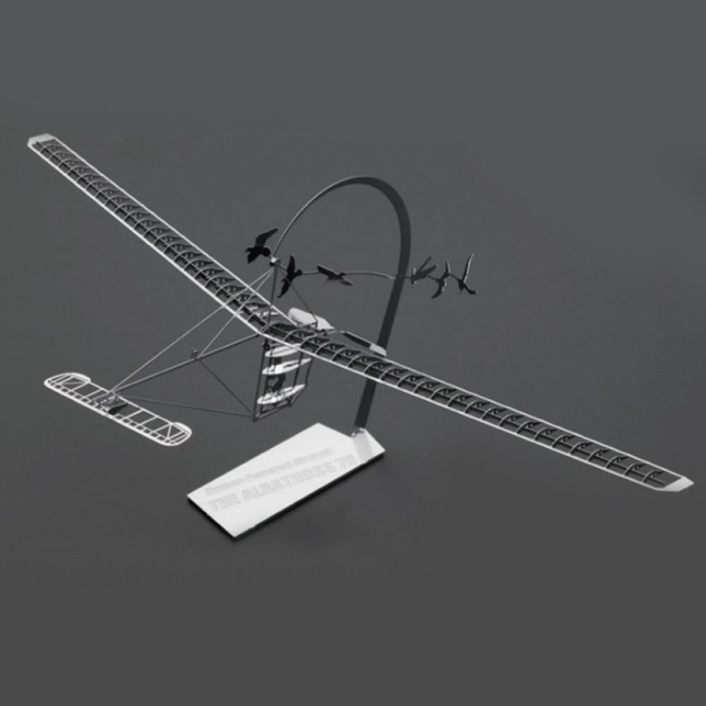 Aerobase 金屬模型組裝不鏽鋼The Albatross 79金屬高質感復古人力飛行機