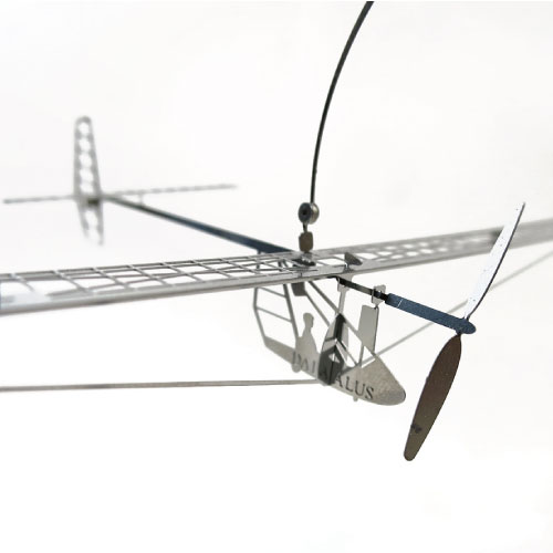 Aerobase|金屬模型組裝不鏽鋼The Albatross 88金屬高質感復古人力飛行機