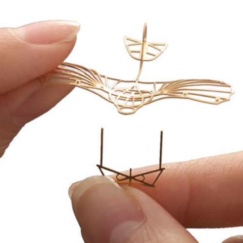 Aerobase|金屬模型組裝飛機LS-1飛鳥造型滑翔型四件組(1/160)