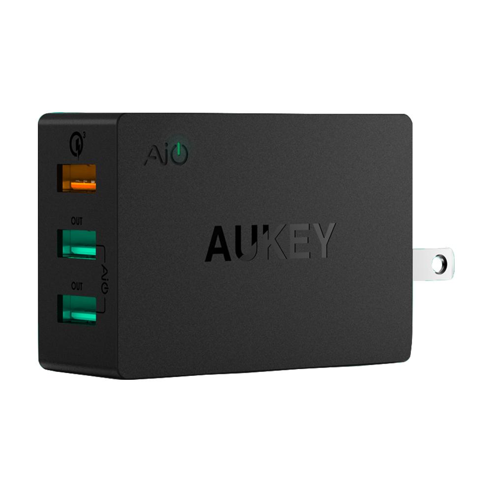AUKEY PA-T14 42W QC3.0 3孔快速充電器