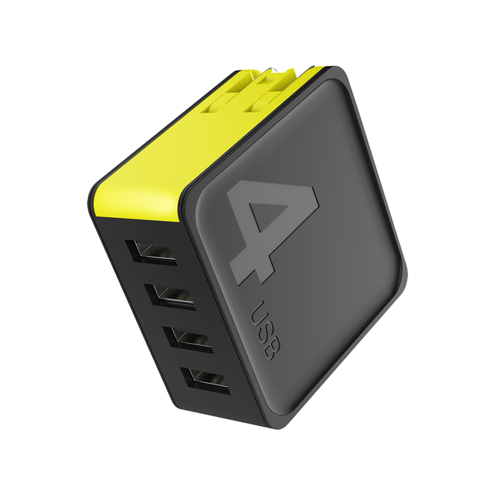 ROCK│4孔 QC3.0 可折疊旅行快速充電器