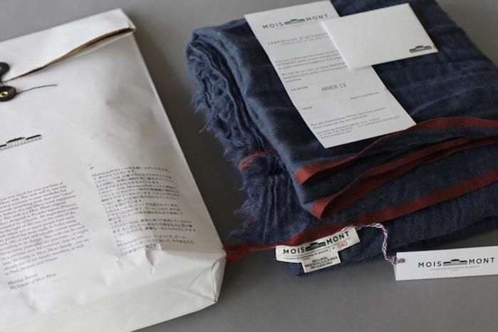 MOISMONT|N°324-KAKI 純棉方巾