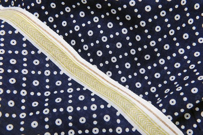 (複製)MOISMONT N°330-INK BLUE 純棉圍巾