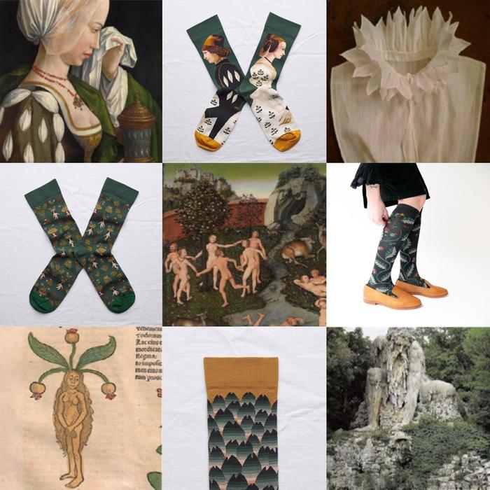 (複製)Bonne Maison|夜貓森林 純棉織襪