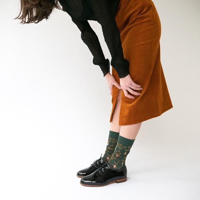(複製)Bonne Maison 波波里花園 純棉織襪