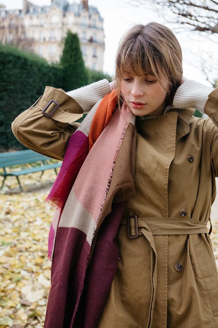 (複製)MOISMONT|N°381-HOT PINK 羊毛圍巾