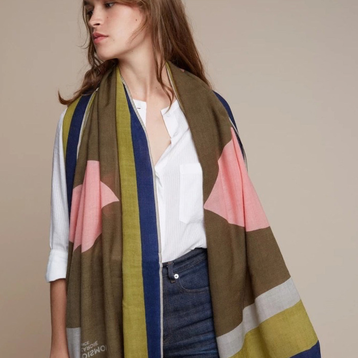 MOISMONT|N°379-SOFT PINK 羊毛圍巾