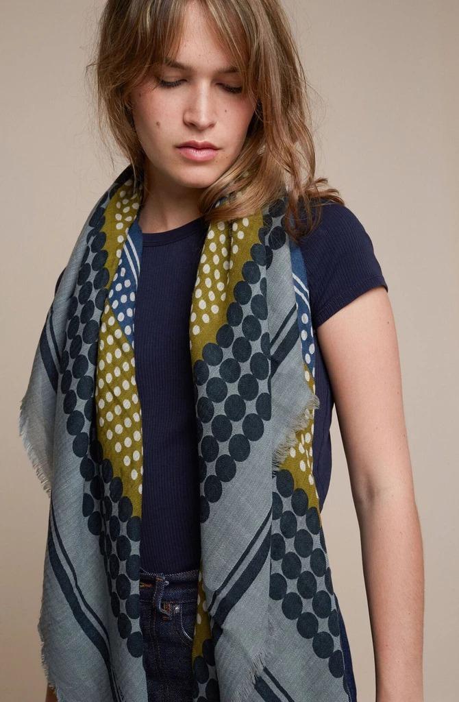MOISMONT N°366-JAPAN BLUE 羊毛圍巾