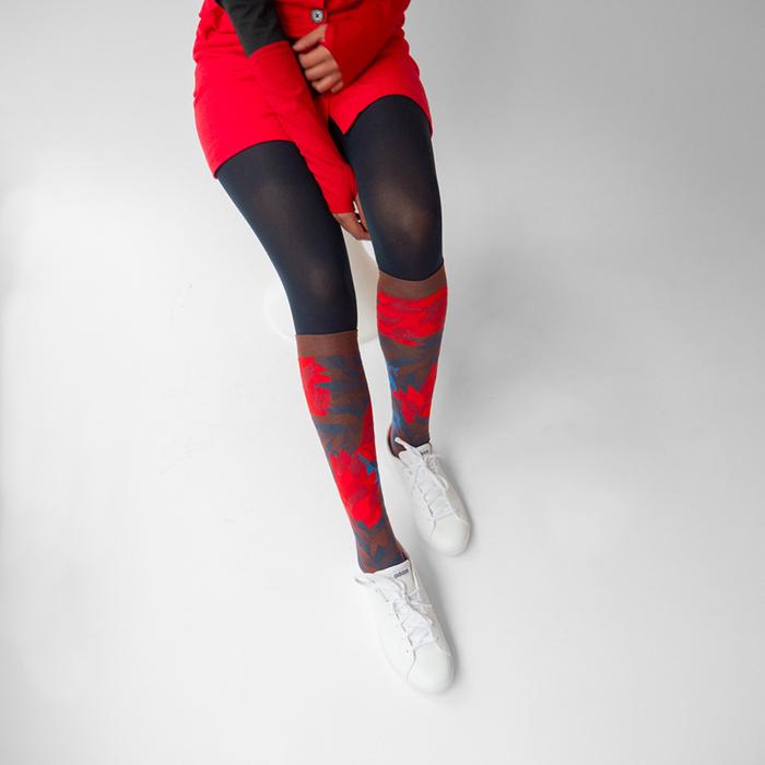 Bonne Maison|野火 純棉織襪