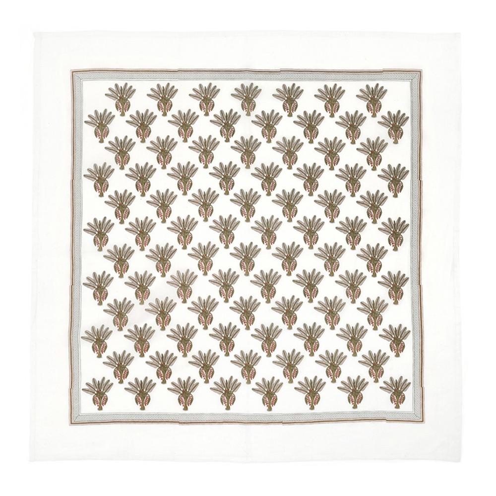 MOISMONT N°324-KAKI 純棉方巾