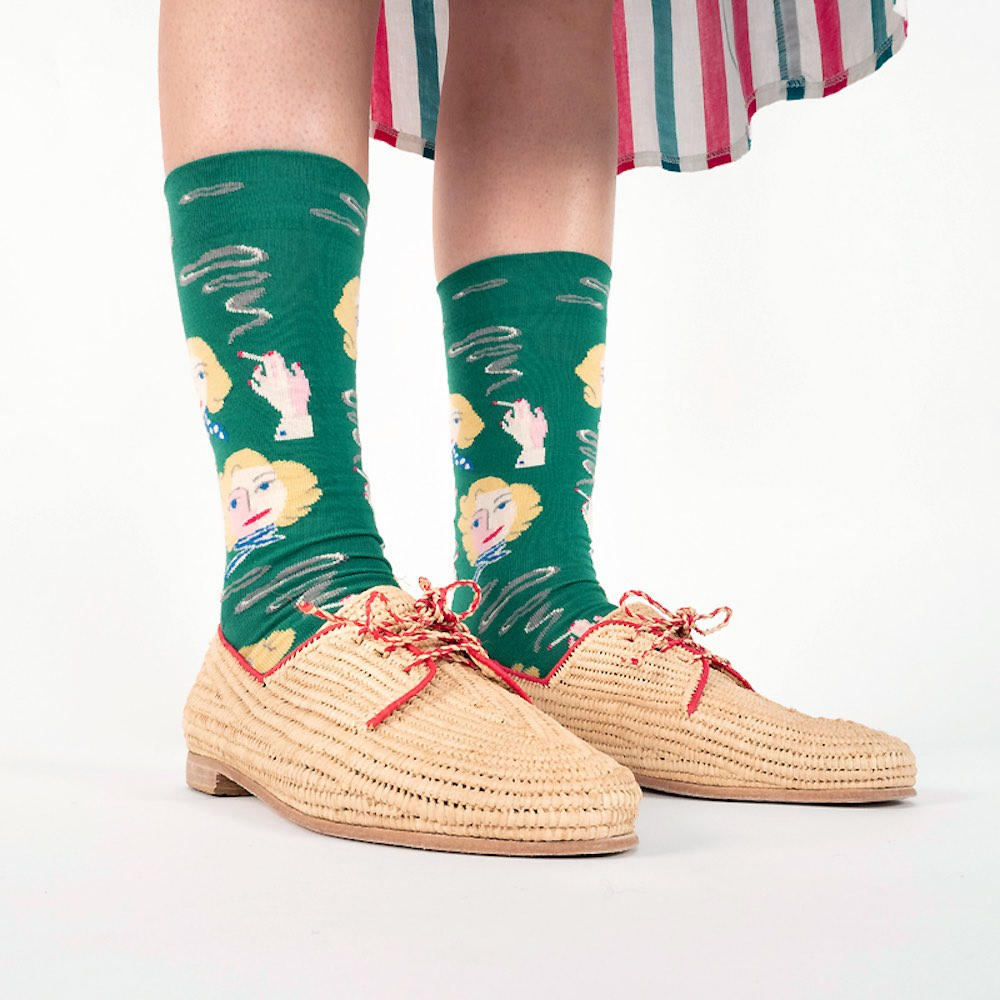 Bonne Maison|金色女郎 純棉織襪