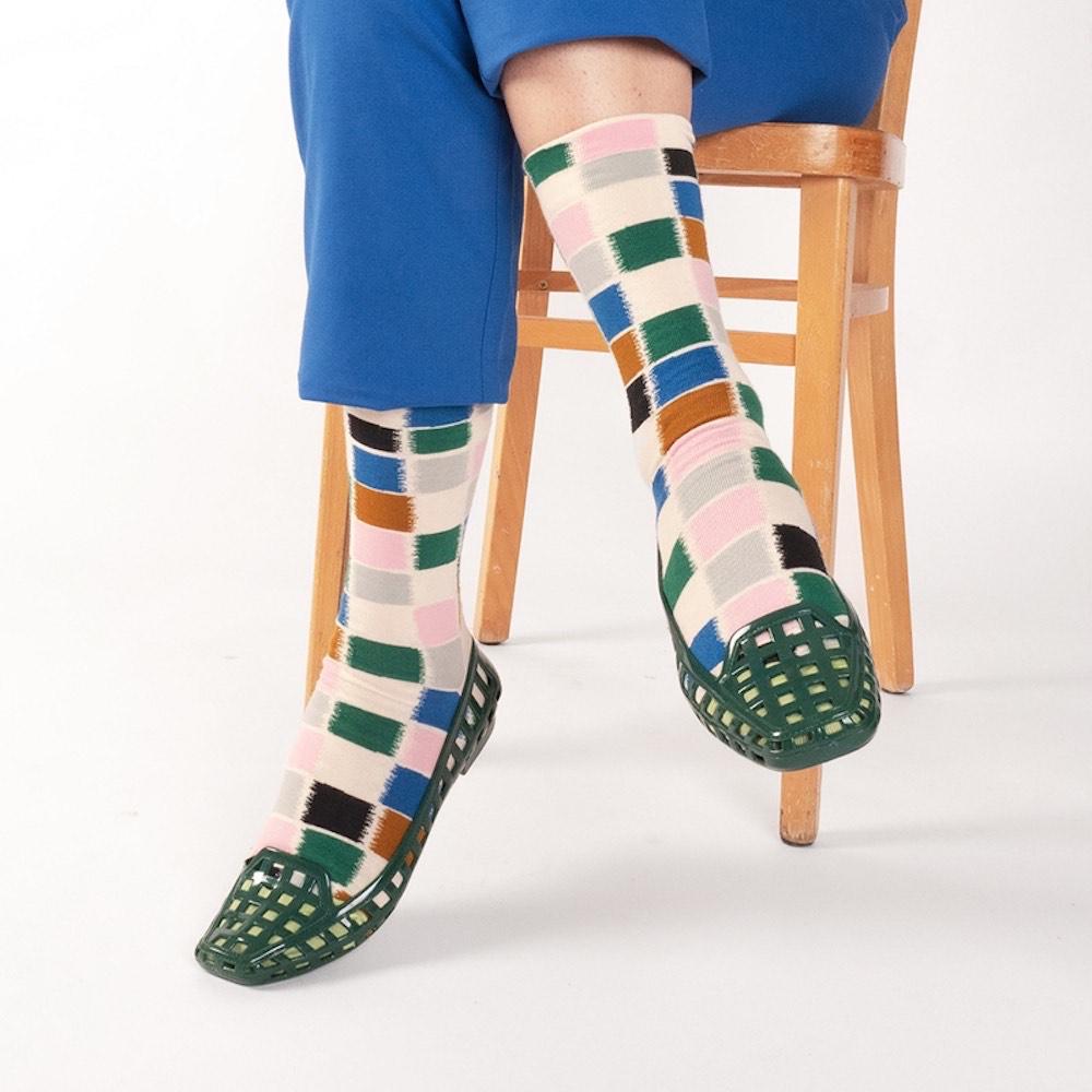 Bonne Maison|可可調色盤 純棉織襪