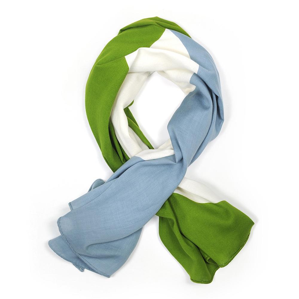 MOISMONT|N°332-EVERGREEN 純棉方巾