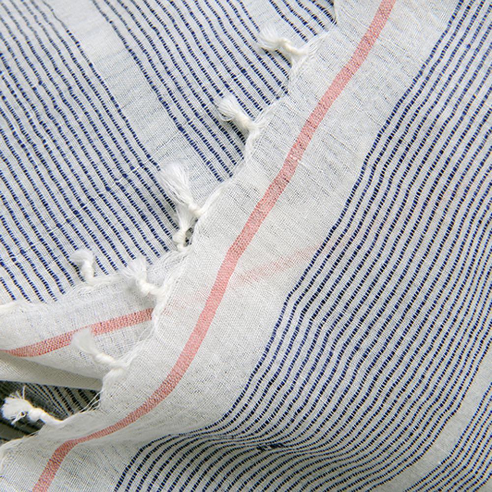 MOISMONT|N°351-JAPAN BLUE 純棉圍巾
