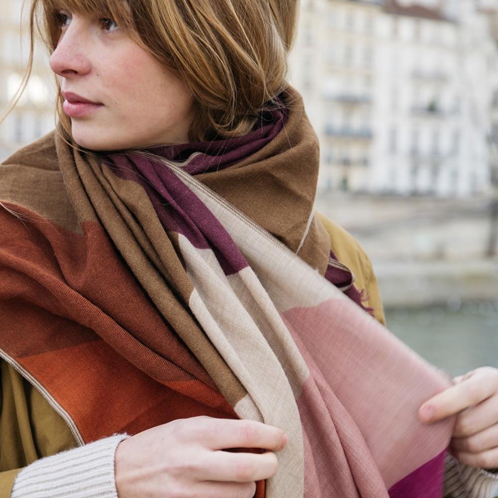 MOISMONT|N°374-INDIAN PINK 羊毛圍巾