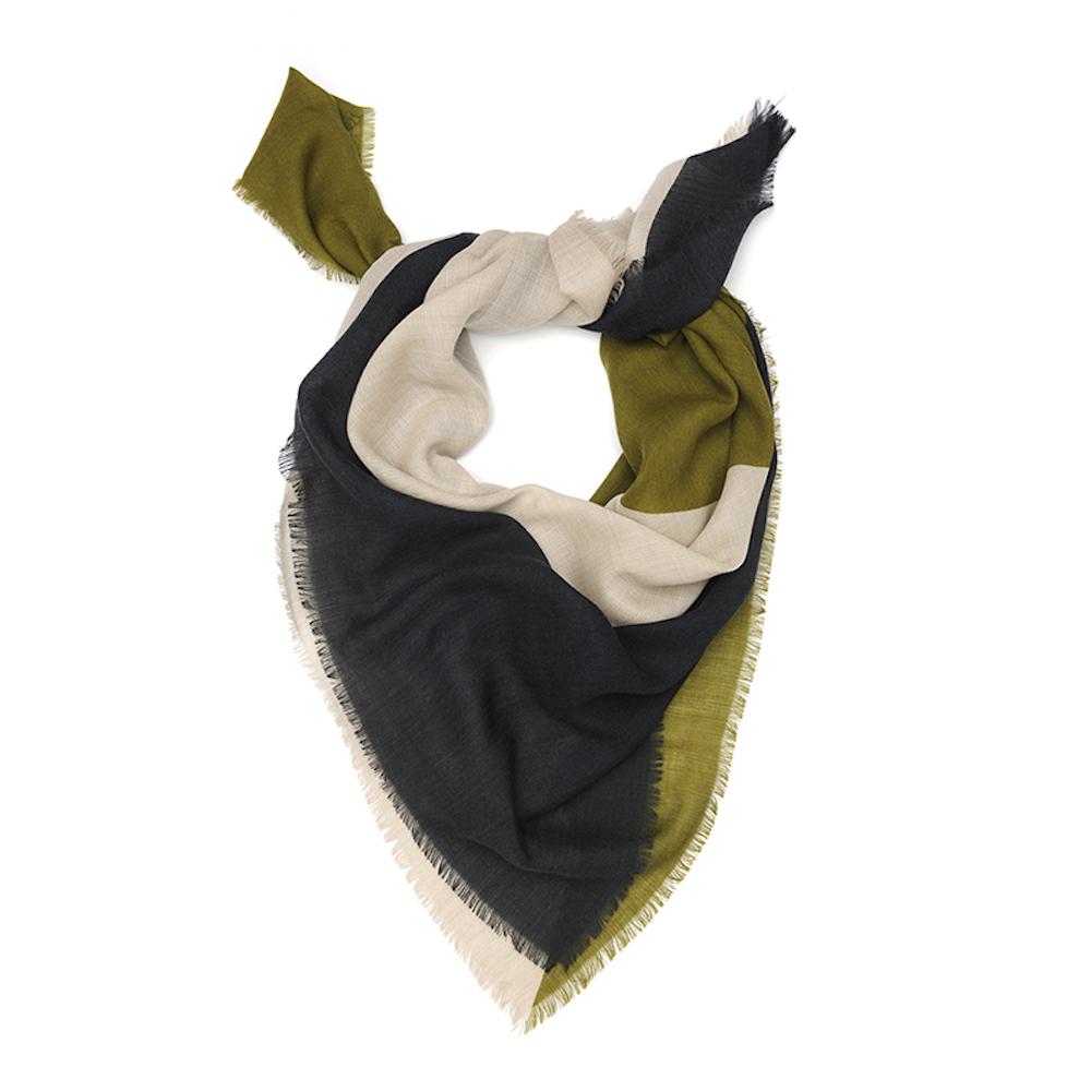 MOISMONT|N°364-OLIVE GREEN 羊毛圍巾