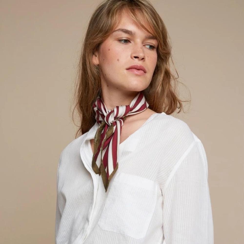 MOISMONT|N°359-VIOLINE 真絲方巾