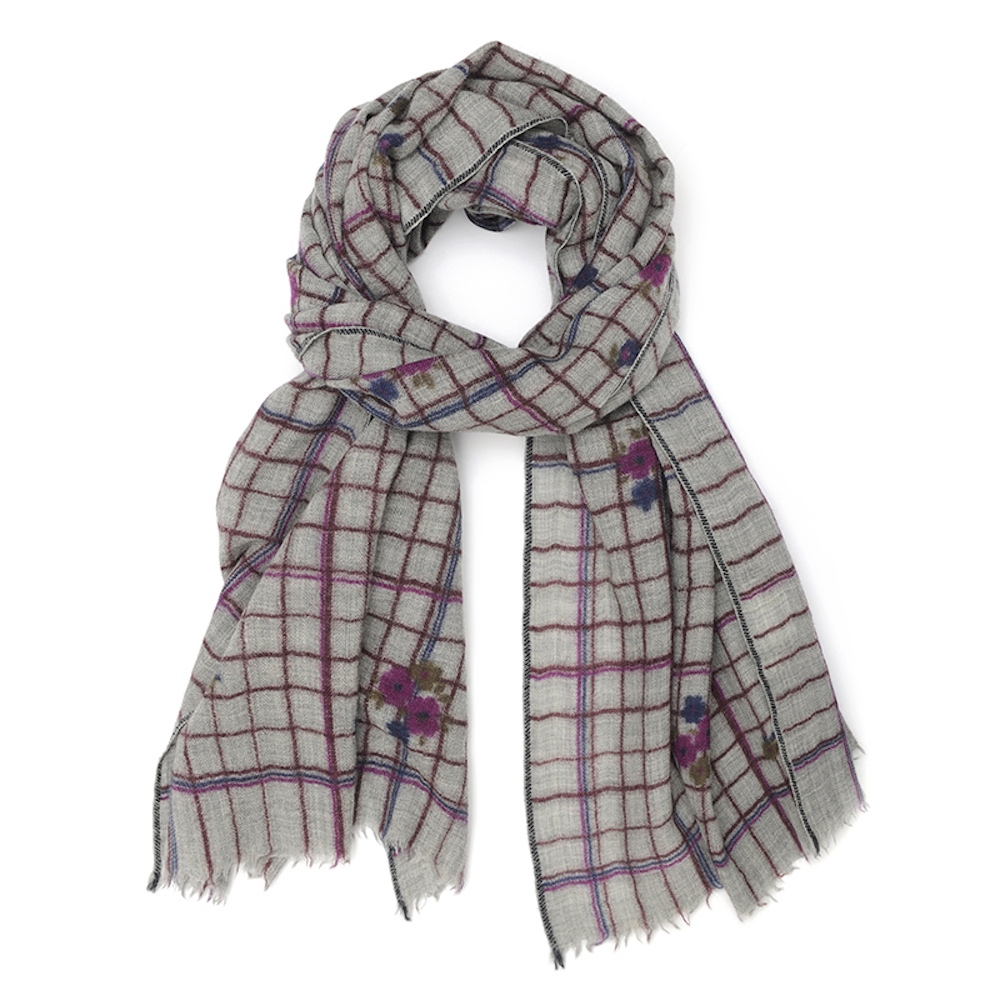 MOISMONT|N°369-VIOLINE 羊毛圍巾