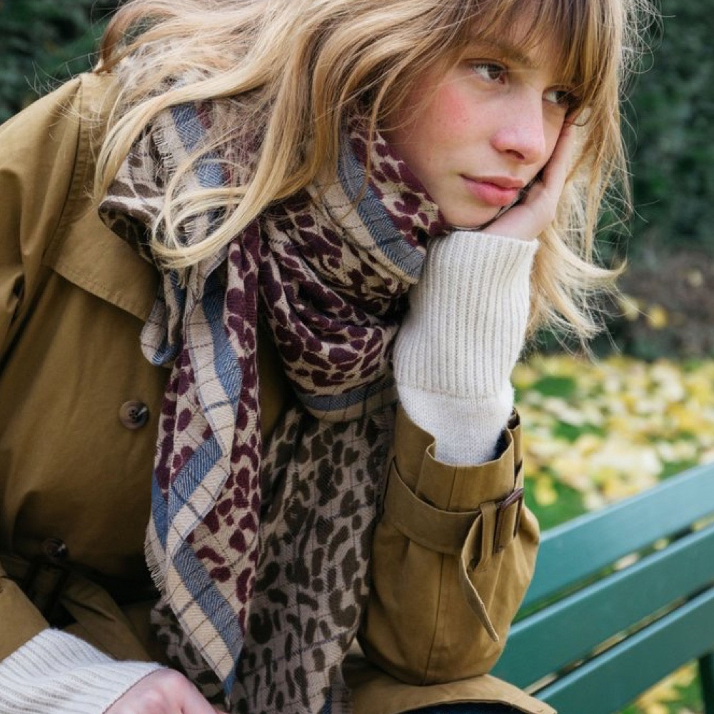 MOISMONT|N°381-HOT PINK 羊毛圍巾