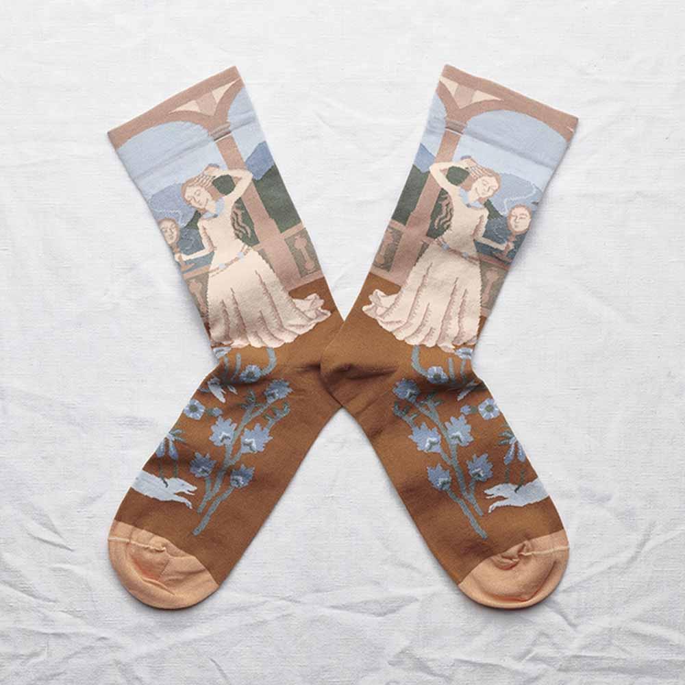 Bonne Maison 長髮公主 純棉織襪