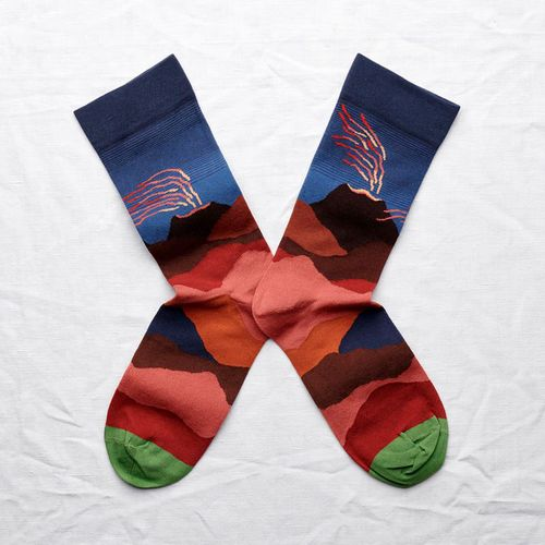 Bonne Maison|岩火山 純棉織襪