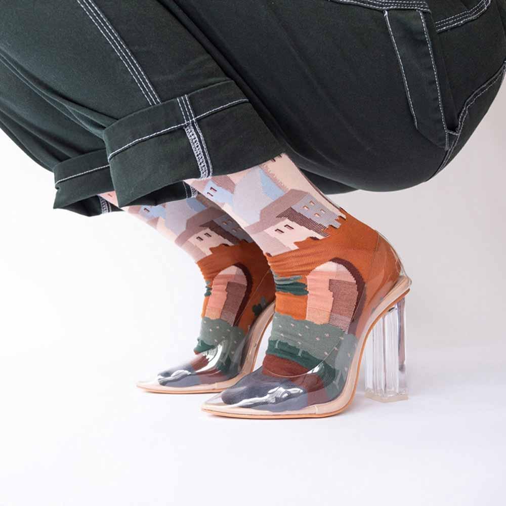Bonne Maison 天空之城 純棉織襪