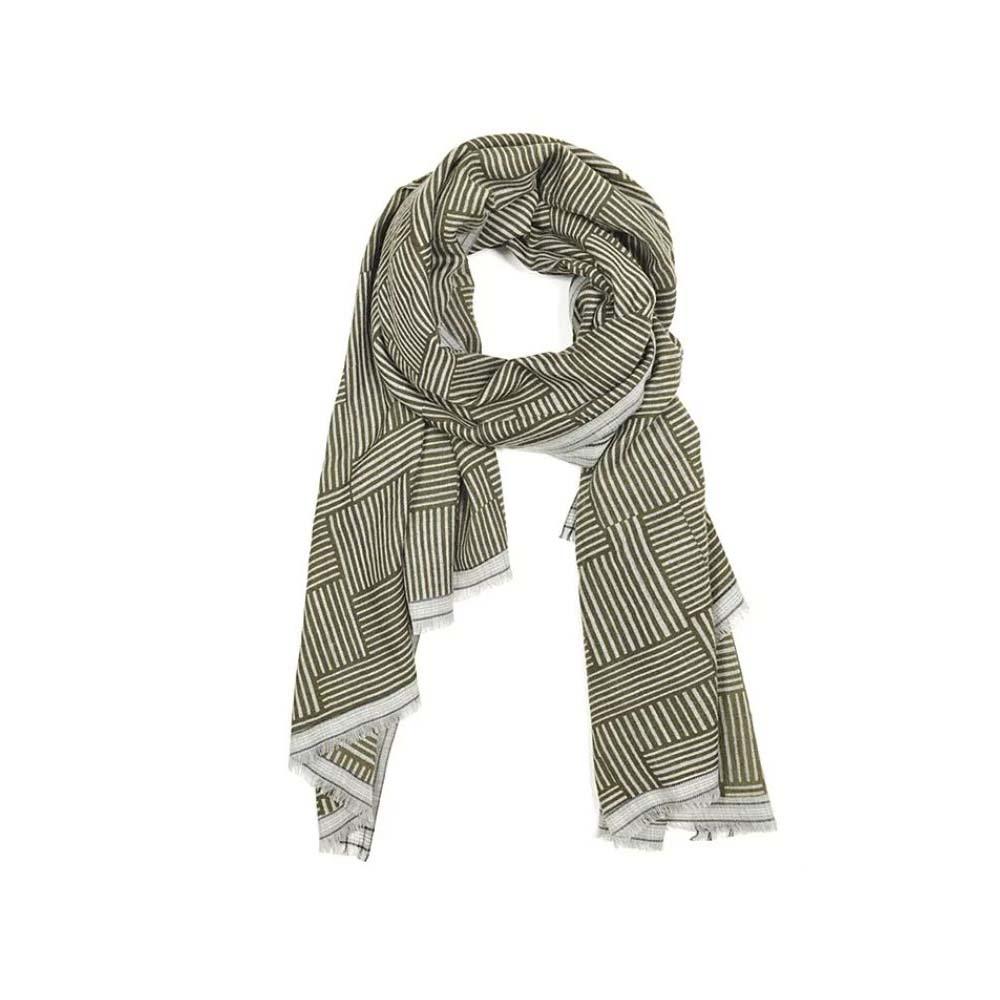 MOISMONT|KAKI#300-100%羊毛圍巾100x200