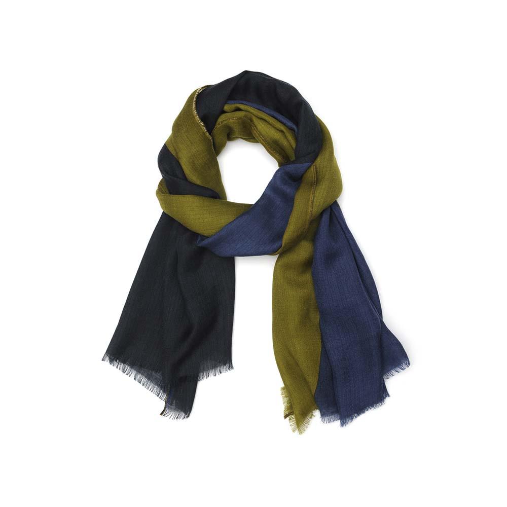 MOISMONT|N°368 - TEAL BLUE 羊毛圍巾