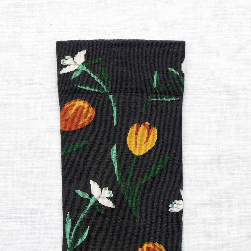 Bonne Maison 鬱金香 純棉織襪