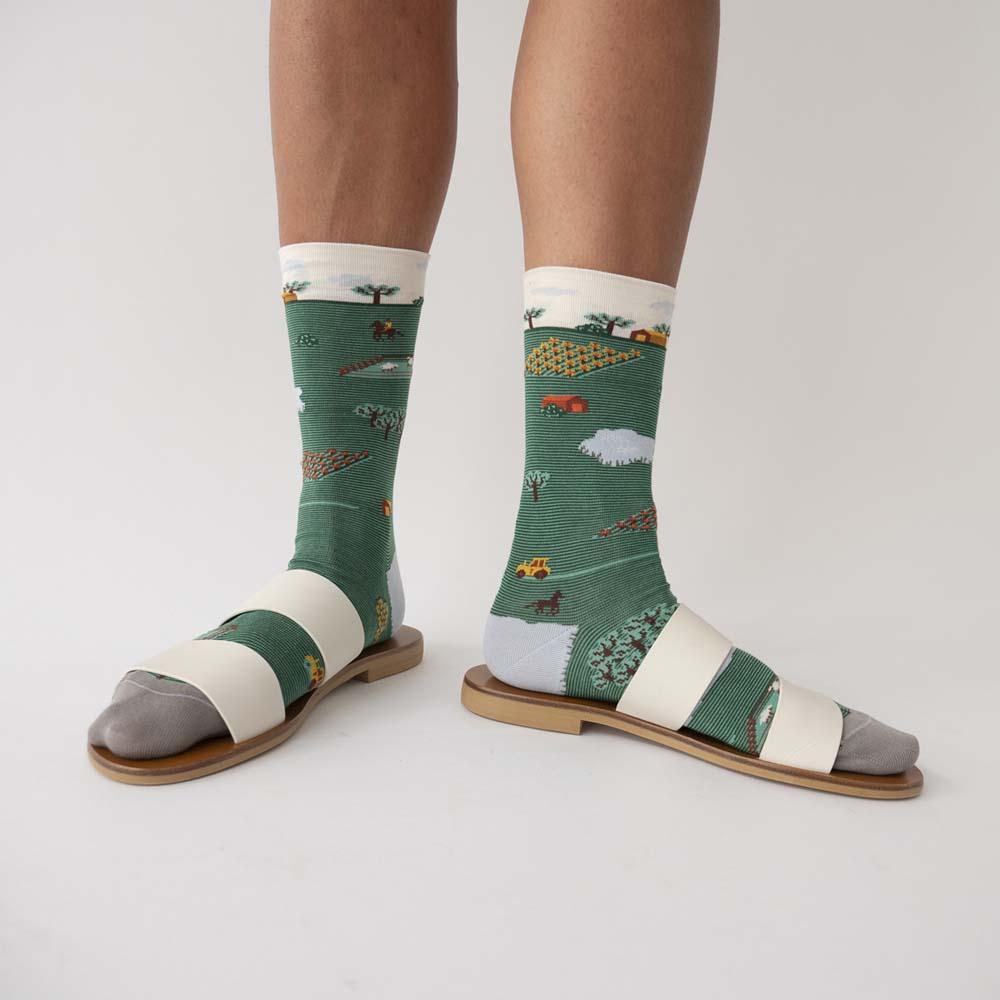 Bonne Maison|積木田園 純棉織襪