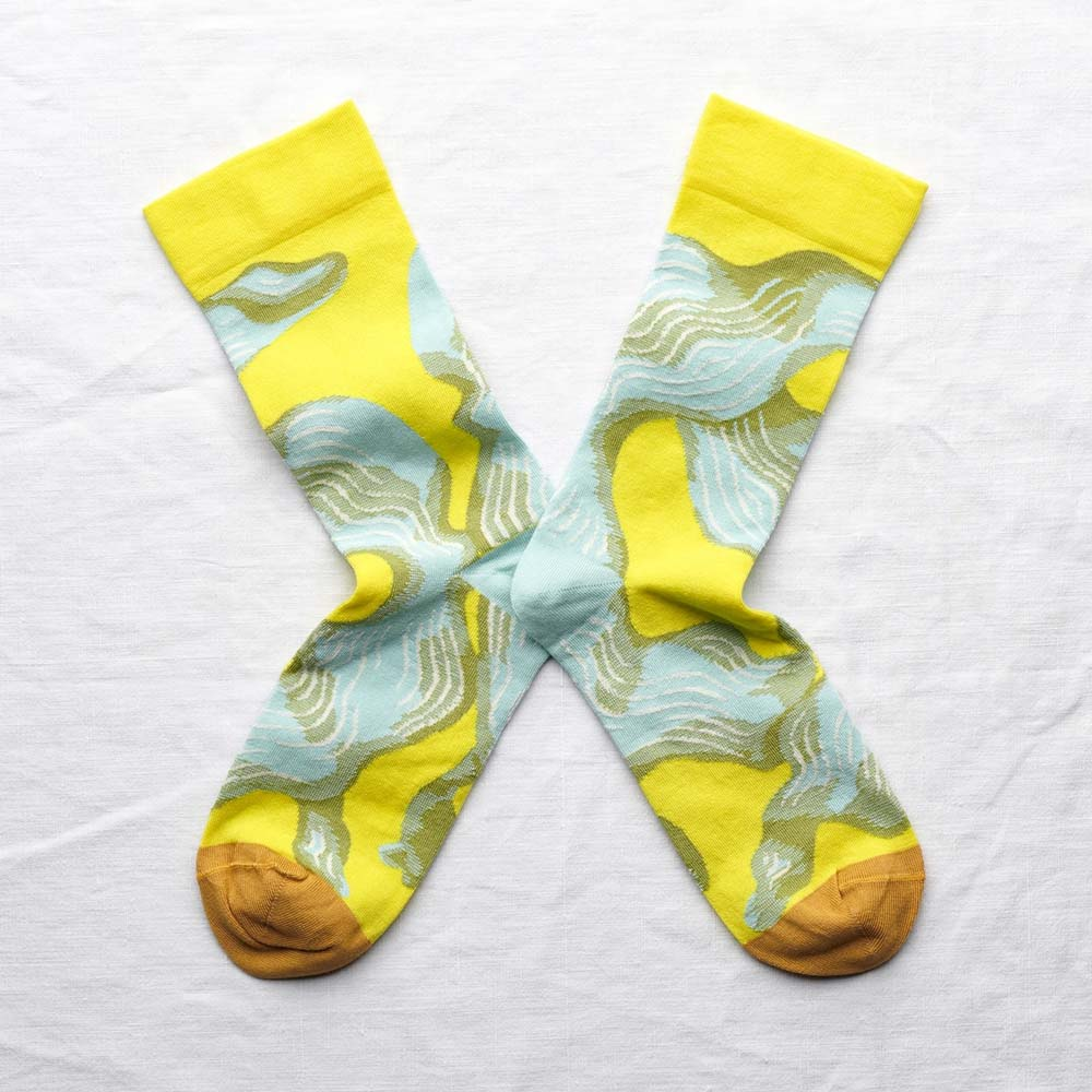 Bonne Maison|海藻飄 純棉織襪