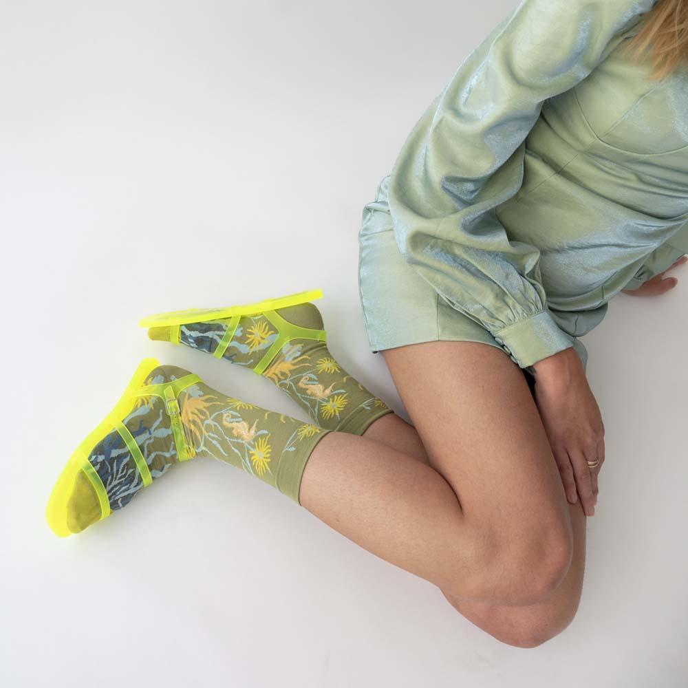 Bonne Maison|浮游海馬 純棉織襪
