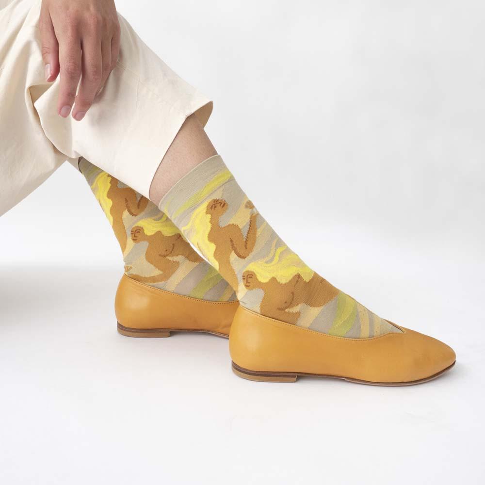 Bonne Maison|珍珠美人魚 純棉織襪